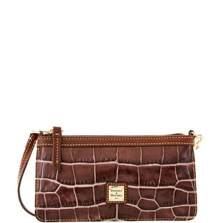 Dooney & Bourke Croco Fino Large Slim Wristlet (Introduced by Dooney & Bourke at $88 in Sep 2016) - Taupe