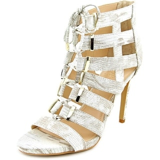 Vince Camuto Freshi Women Open Toe Leather White Sandals