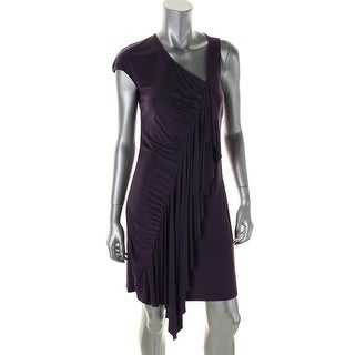 Catherine Malandrino Womens Silk Blend Cascade Ruffle Party Dress - 4