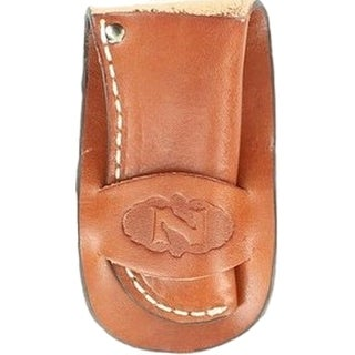 Nocona Knife Sheath Country Leather Embossed Logo Rich Brown