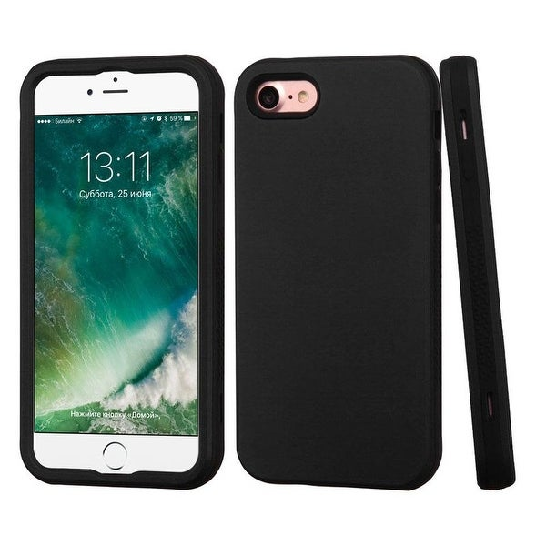 Insten Verge Hard PC/ Silicone Dual Layer Hybrid Rubberized Matte Case Cover For Apple iPhone 7