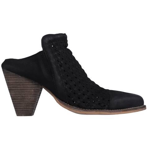 BRONX Mini Mee Pointed Toe Mules Womens Casual - Black