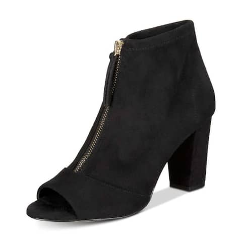 INC International Concepts Womens Kirsi Peep Toe Ankle Fashion Boots
