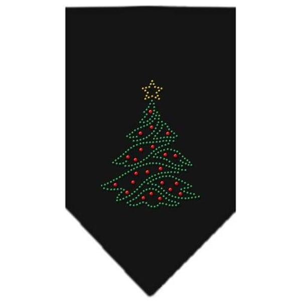 brand new 1b284 eb058 Mirage Pet Products Christmas Tree Rhinestone Bandana Black Small