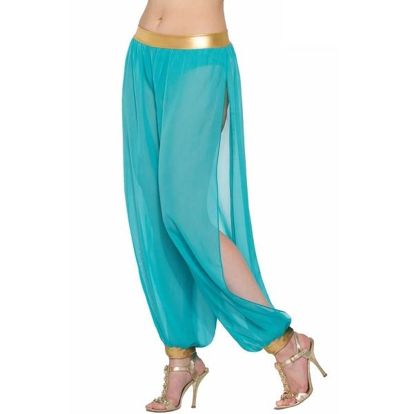 Forum Novelties Belly Dancer Harem Pants Adult Costume (Green) - Green - Standard