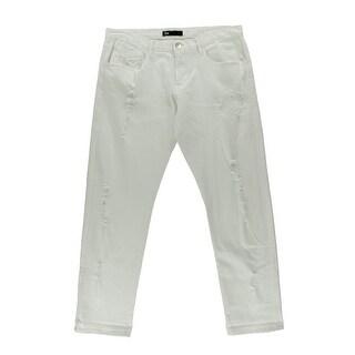 3x1 Womens Destroyed Mid-Rise Boyfriend Jeans - 32