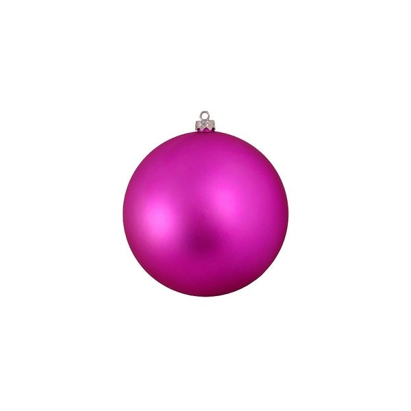 "Shatterproof Matte Light Magenta Pink UV Resistant Commercial Christmas Ball Ornament 8"" (200mm)"