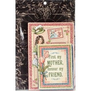 "Penny's Paper Doll Journaling & Ephemera Cards-(16) 4""X6"" & (16) 3""X4"""