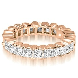 6.80 cttw. 14K Rose Gold Princess Prong Diamond Eternity Ring