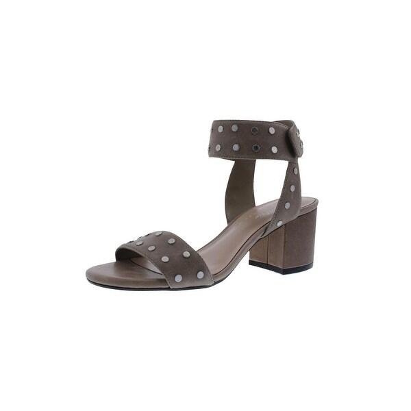 424 Fifth Womens Harrow Block Heels Embellished Open Toe - 7 medium (b,m)