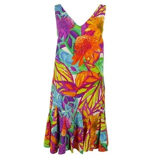 Lauren Ralph Lauren Women's Sleeveless Floral Print Dress