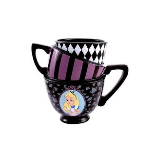 Alice in Wonderland Stacked Teacups Sculpted Mug