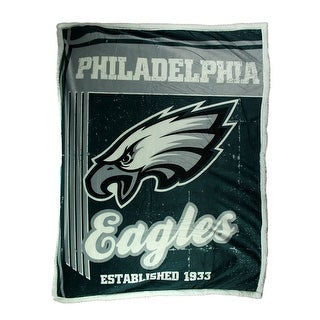 Philadelphia Eagles Super Soft Sherpa Style Throw Blanket - TEAL
