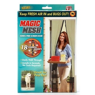 Magic Mesh MM011124 Magnetic Hands-Free Screen Door, As Seen On TV