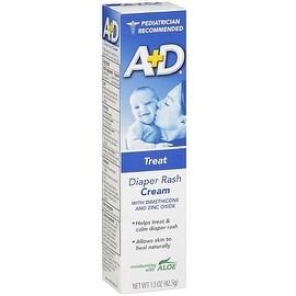 A+D Diaper Rash Cream, Zinc Oxide, with Aloe 1.50 oz