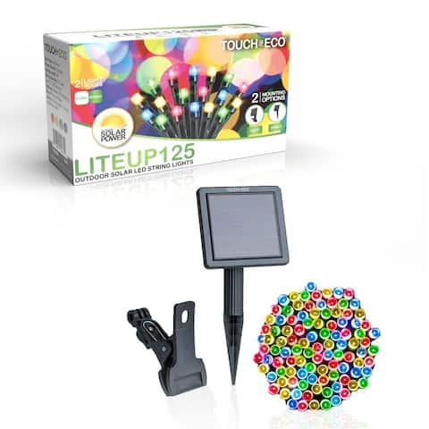 Solar Powered 125 LED String Light - Multi-Colored