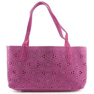 Buco Cambridge Kate Small Bicolor Tote Women Suede Tote - Pink|https://ak1.ostkcdn.com/images/products/is/images/direct/9e87537e37f47e1009aac0c78ea2100f833ace64/Buco-Cambridge-Kate-Small-Bicolor-Tote-Women-Suede-Pink-Tote.jpg?impolicy=medium