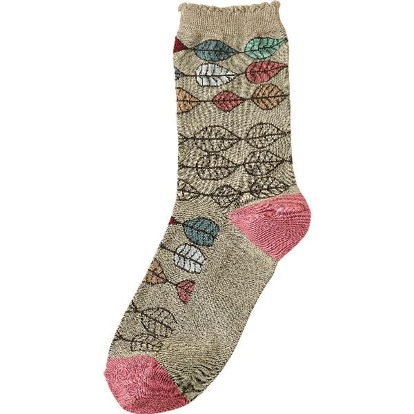 Women's Socks - Aspen Leaves Argyle Print - One size
