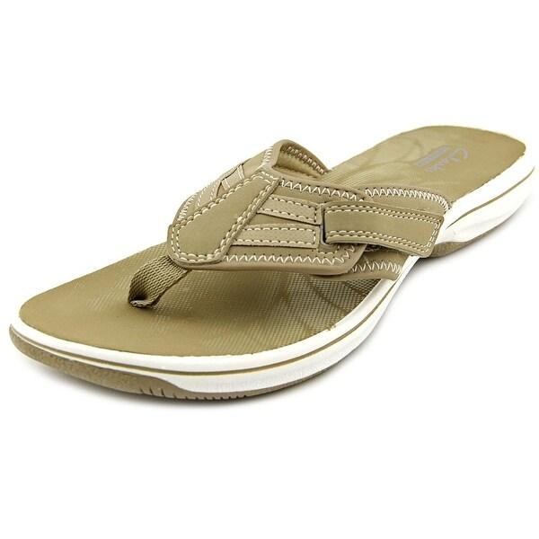 Clarks Narrative Brinkley Derry Women Open Toe Synthetic Gray Flip Flop Sandal