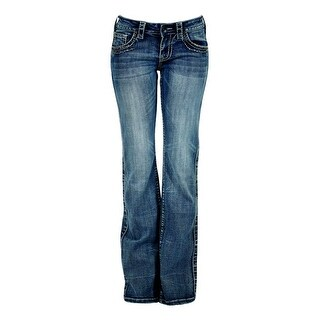Cowgirl Tuff Western Denim Jeans Women Timeless Barbed Wire Med