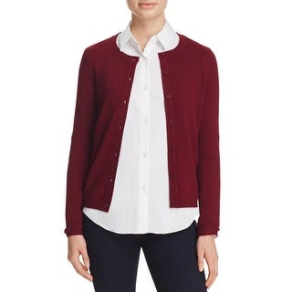 Private Label Womens Cardigan Sweater Button-down Front Ribbed Trim