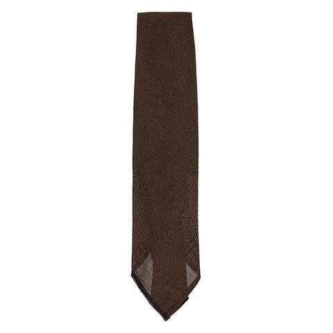 Tom Ford Mens Dark Brown Textured 100% Silk Woven Sheer Classic Tie~RTL$275 - One Size