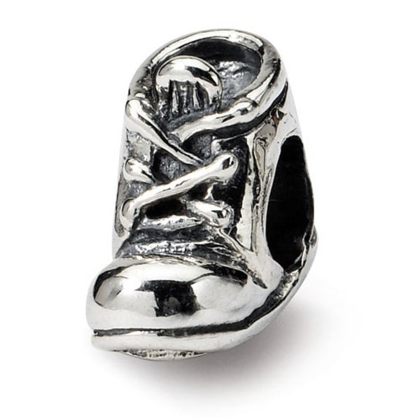 Sterling Silver Reflections Baby Shoe Bead (4mm Diameter Hole)