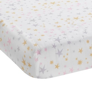Bedtime Originals Multicolor Rainbow Unicorn Fitted Crib Sheet