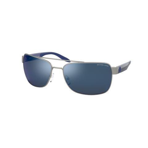 Michael Kors MK1094 123555 65 Matte Silver Man Pillow Sunglasses