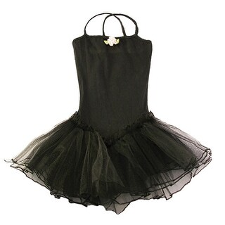 Reflectionz Black Rosette Tutu Leotard Dance Dress Toddler Girl 2T-8