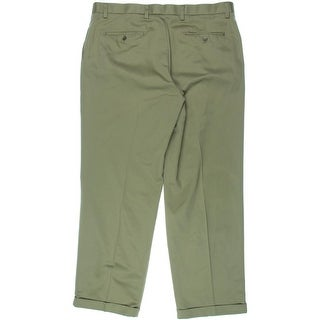 Dockers Mens D4 Relaxed Fit Pleated Khaki Pants