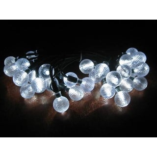 Smart Solar 3732WR30 Solar Light String with Crystal Ball Covers