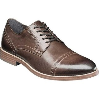 Nunn Bush Men's Middleton Cap Toe Oxford Brown Leather