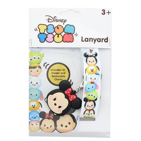 Disney Tsum Tsum Character Lanyard w/ Minnie Mouse Charm - White