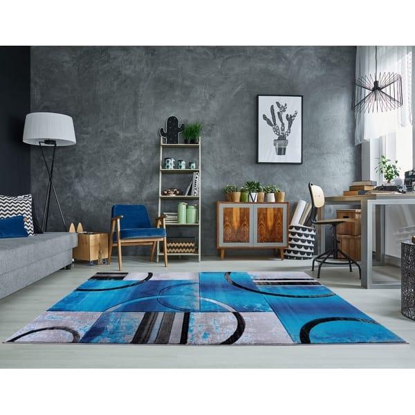 Geometric Black Grey Blue Gold Red Area Rug Carpet Mat For Living Room Bedroom Hallway Runner Patio On Sale Overstock 29200398