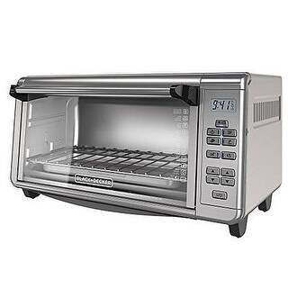 Applica TO3290XSD Black-Decker Stainless Steel 8-Slice Extra Wide Toaster Oven, Silver