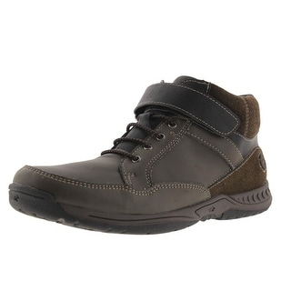 Nunn Bush Boys Faux Leather Memory Foam Casual Boots - 6
