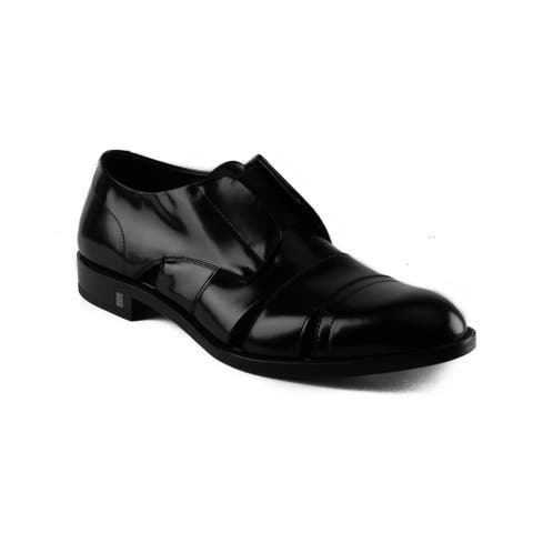 Versace Men's Leather Medusa Laceless Oxford Dress Shoes Black