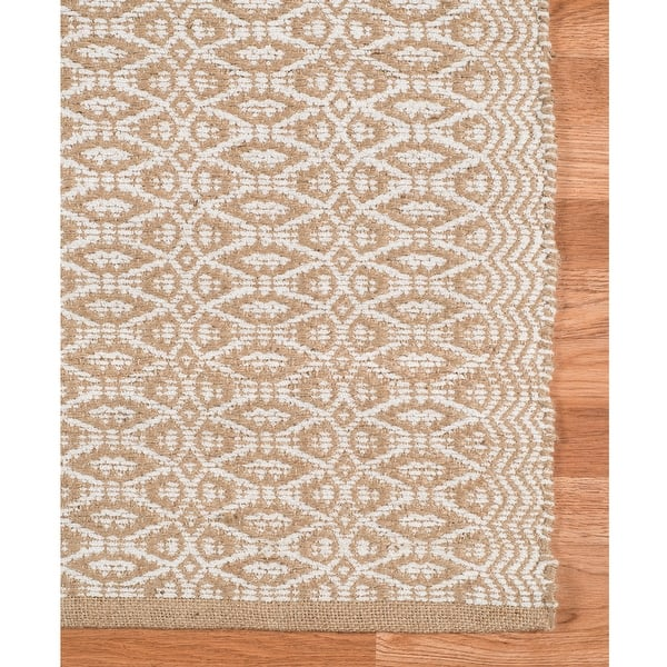 Shauna H Flatweave All Natural Jute Rayon Area Rug Overstock 10855900