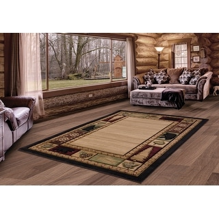 Link to Westfield Home Graham Cresson Beige Hand-Carved Area Rug Similar Items in Rugs