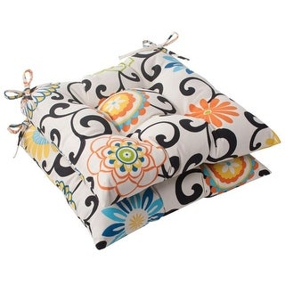 Excellent Set Waverly Sunnshade Summer Flower Tufted Outdoor Patio Seat  Cushions With Waverly Chair Pads