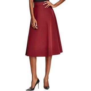 DKNY Womens A-Line Skirt Midi Knee-Length