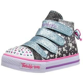 Skechers Girls Skip N Jump Toddler Glitter Fashion Sneakers - 5 medium (b,m)