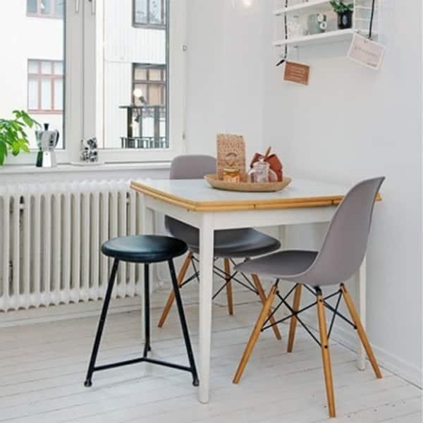 Shop 2xhome Set of 2 Designer Plastic Eiffel Wood Chair ...