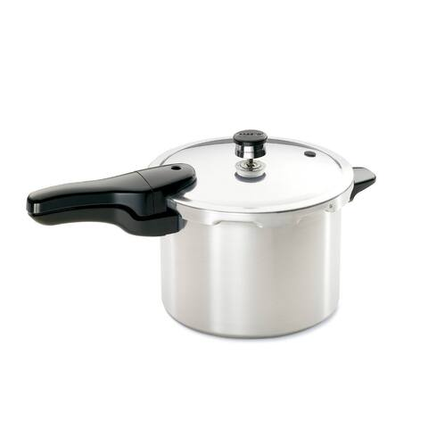 Presto 01264 Aluminum Pressure Cooker with Safety Air Vent/Cover Lock, 6-Qt
