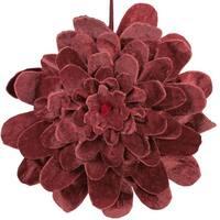 "9.5"" Nature's Luxury Decorative Mahogany Red Velvet Flower Christmas Ornament"
