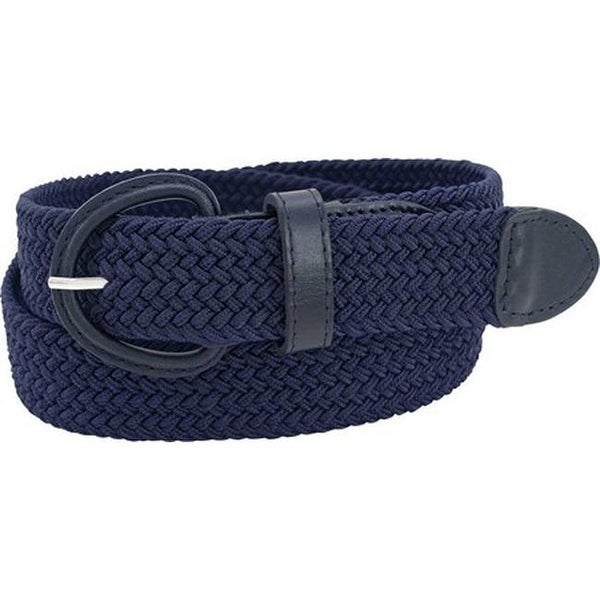 a66a63501eb Shop Florsheim Men s Braided Elastic Stretch Belt Navy Braided Elastic - On  Sale - Free Shipping On Orders Over  45 - Overstock - 20737617