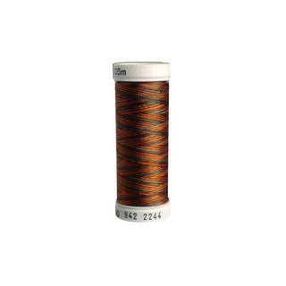 942 2244 Sulky Rayon Thread 40wt 250yd Coral Brown Teal