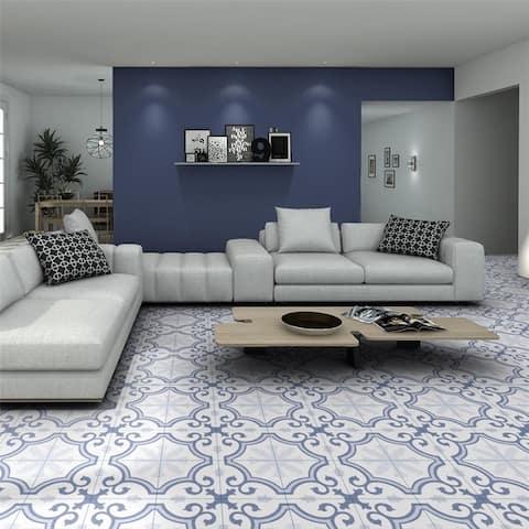 SomerTile 9.75x9.75-inch Garrone Artic Porcelain Floor and Wall Tile