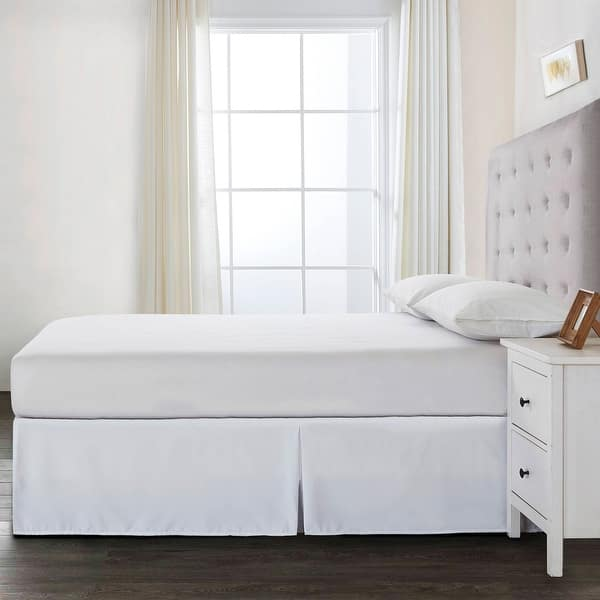 Bed Maker S Adjustable Bed Wrap Around 15 Tailored Bedskirt Overstock 31483237